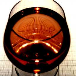 distortion produite par le verre de vin